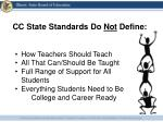 cc state standards do not define