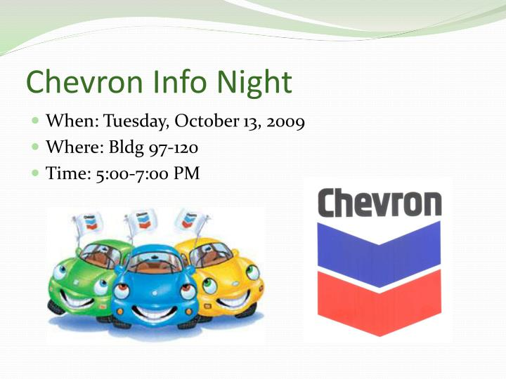 Chevron Info Night