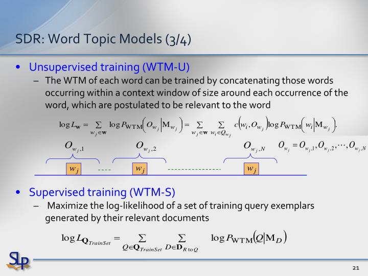 SDR: Word Topic Models (3/4)