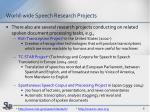 world wide speech research projects