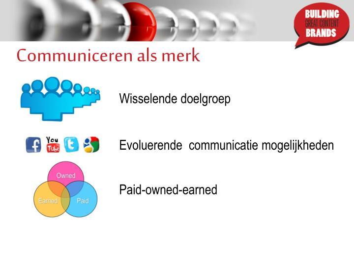 Communiceren als merk