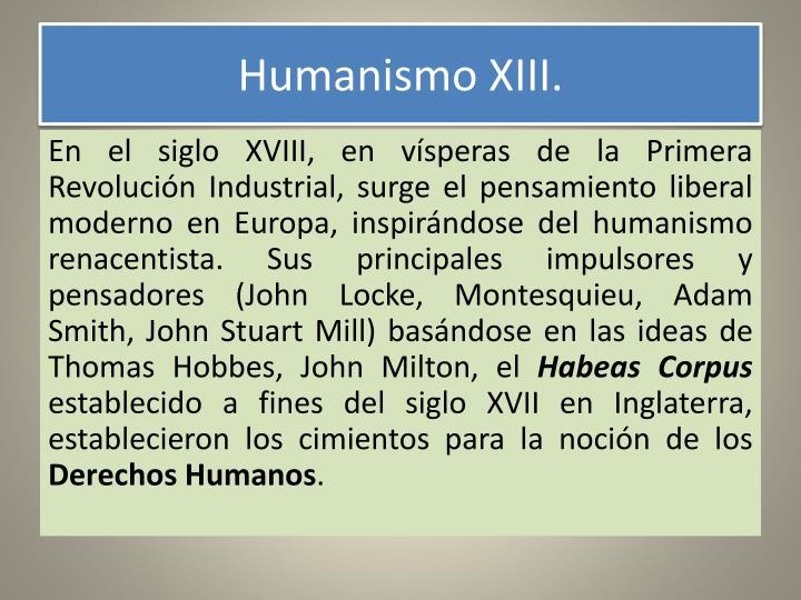 Humanismo XIII.
