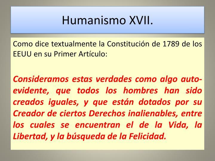 Humanismo XVII.
