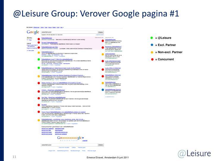 @Leisure Group: Verover Google pagina #1