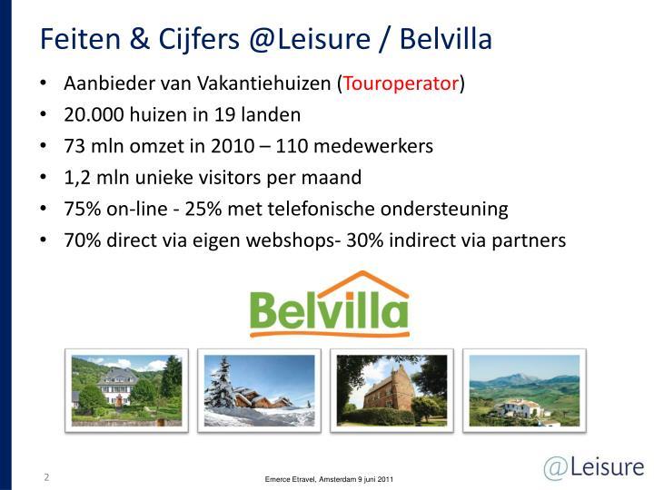 Feiten & Cijfers @Leisure / Belvilla