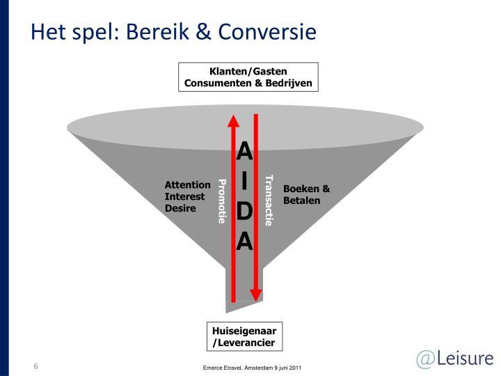 Het spel: Bereik & Conversie