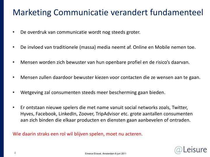 Marketing Communicatie verandert fundamenteel