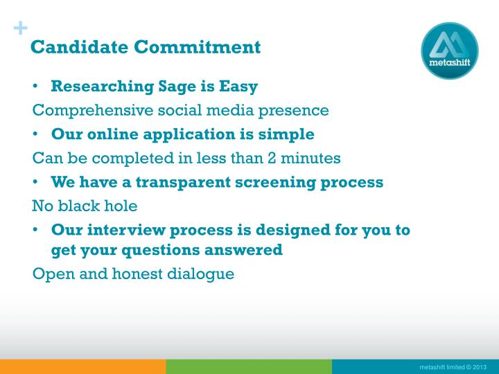 Candidate Commitment