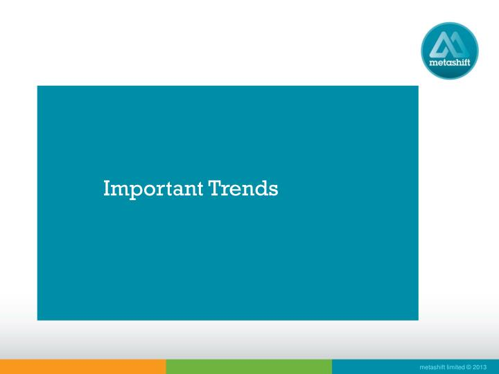 Important Trends