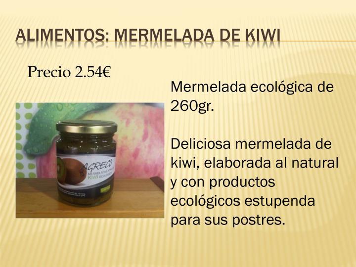 Alimentos: mermelada de kiwi