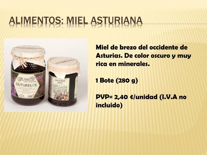 Alimentos: Miel Asturiana