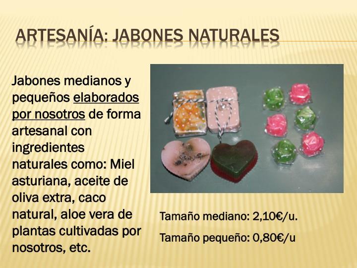 Artesanía: Jabones naturales