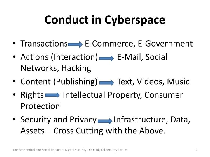 Conduct in cyberspace
