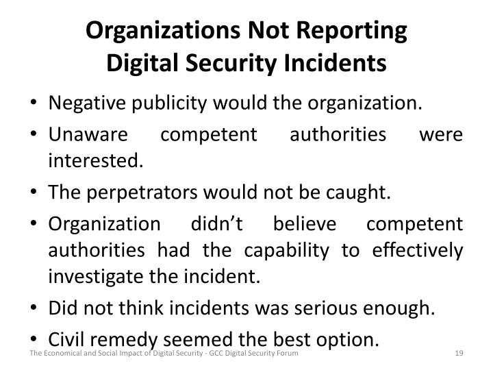 Organizations Not Reporting