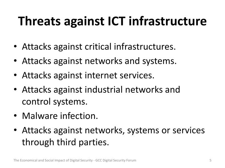 Threats against ICT infrastructure