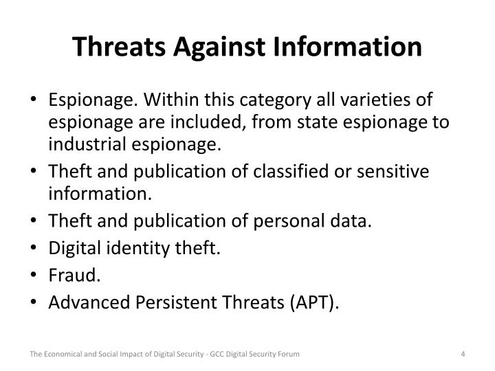 Threats Against Information