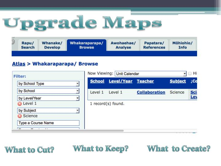 Upgrade Maps