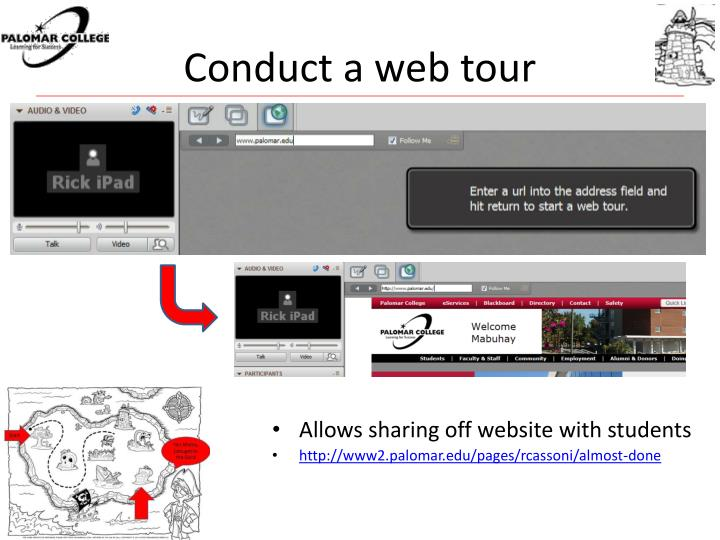 Conduct a web tour