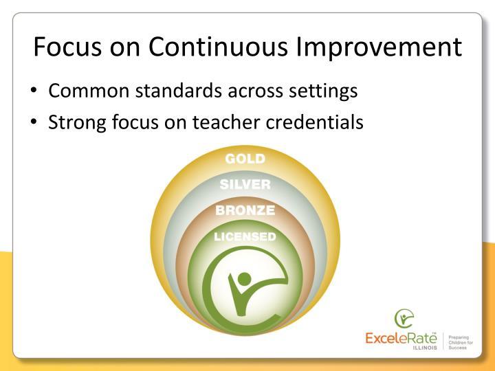 Focus on Continuous Improvement