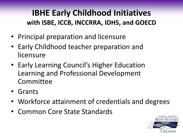 IBHE Early Childhood Initiatives