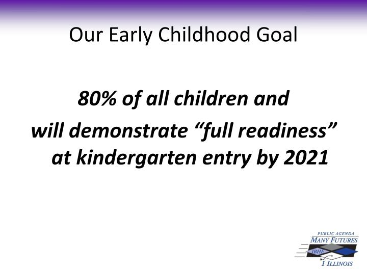 Our Early Childhood Goal