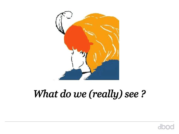 What do we (really) see ?