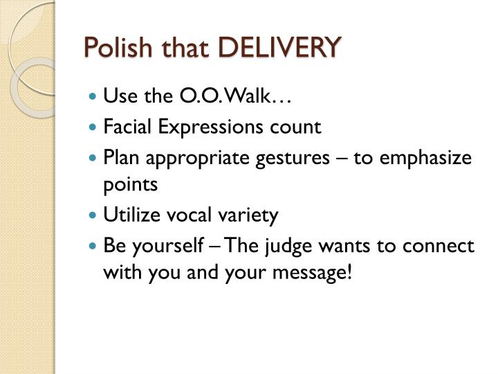 Polish that DELIVERY