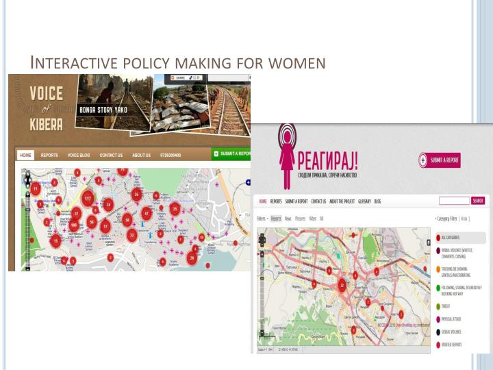 Interactive policy making for women