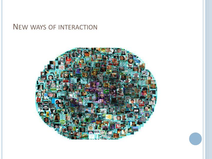 New ways of interaction