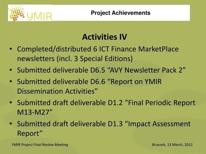 Activities IV