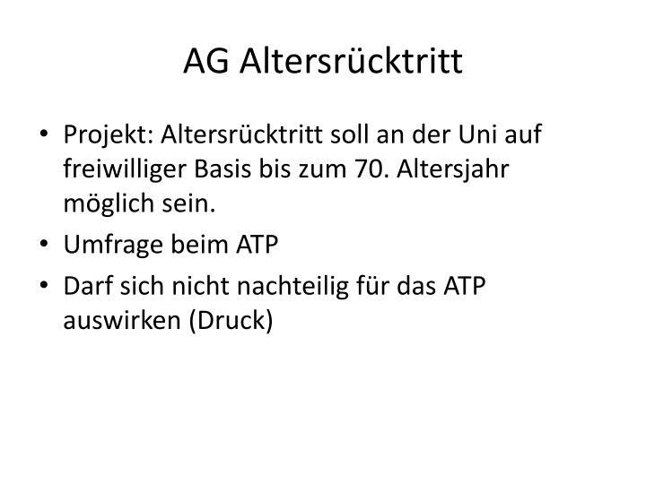 AG Altersrücktritt
