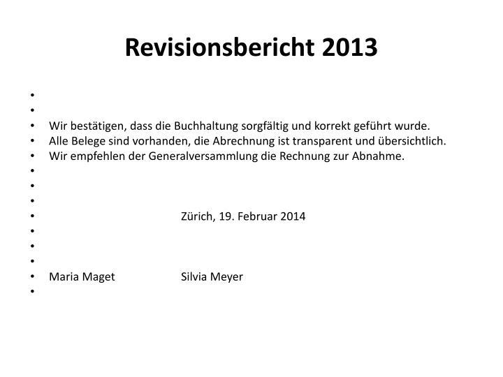 Revisionsbericht