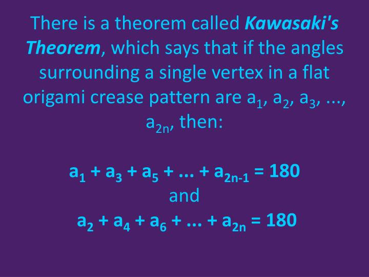 There is a theorem called