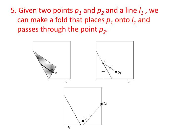 5. Given two points
