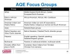 aqe focus groups1