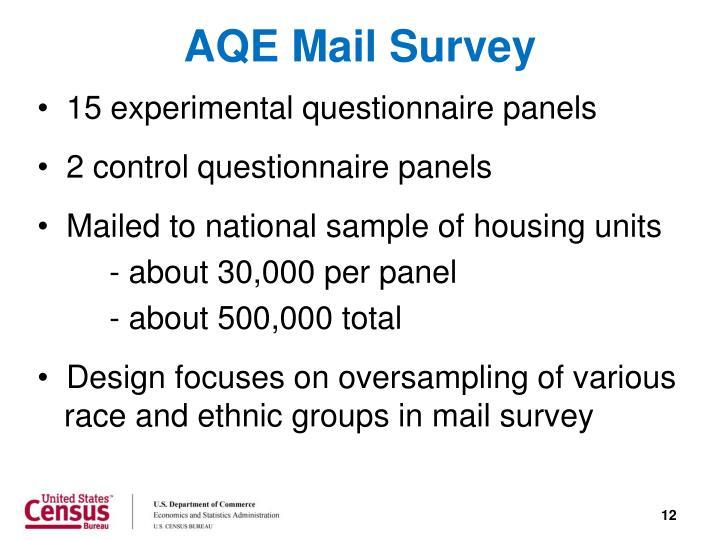 AQE Mail Survey