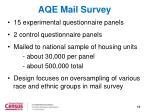 aqe mail survey