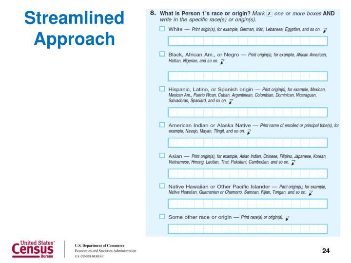 Streamlined Approach