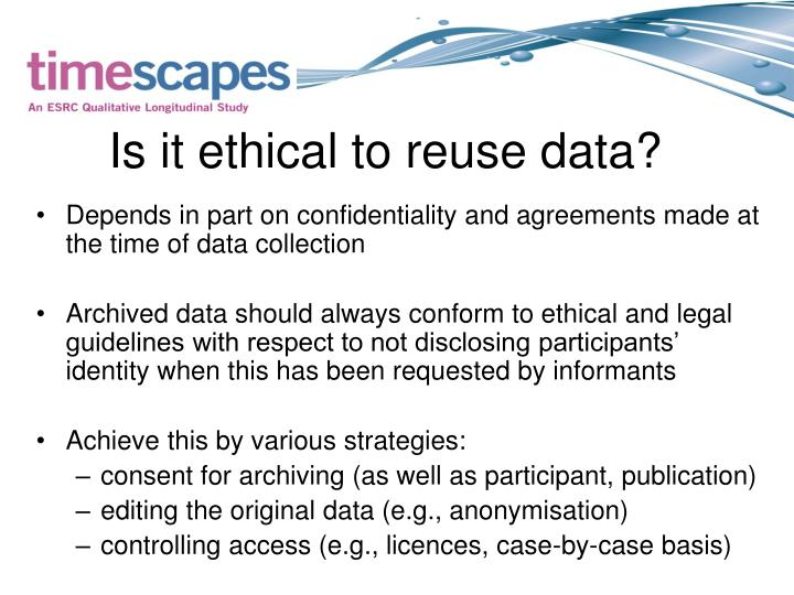 Is it ethical to reuse data?