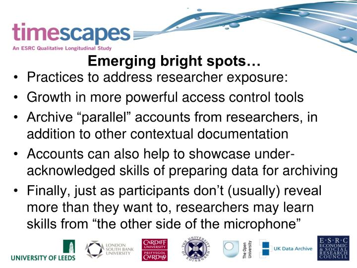 Practices to address researcher exposure: