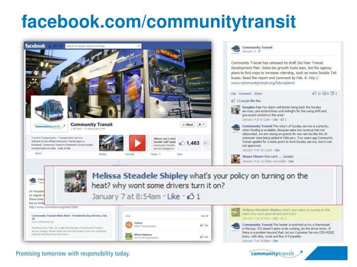 facebook.com/communitytransit
