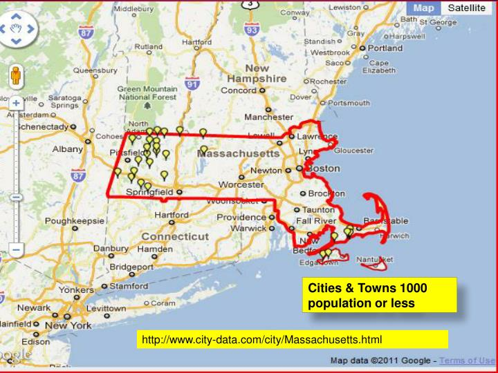 Cities & Towns 1000 population or less