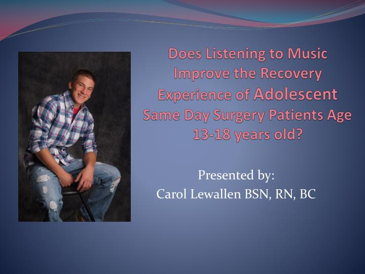 Does Listening to Music Improve the Recovery Experience of
