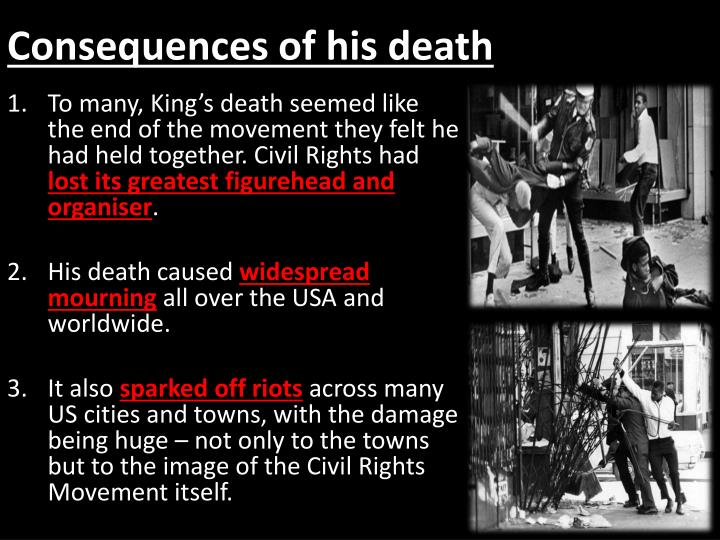 Consequences of his death