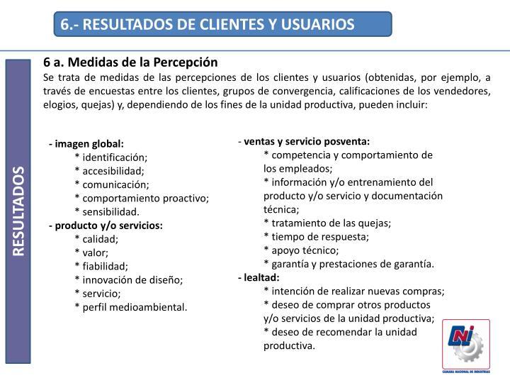 6.- RESULTADOS DE