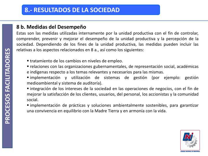 8.- RESULTADOS DE