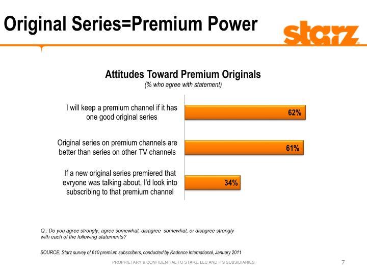 Original Series=Premium Power