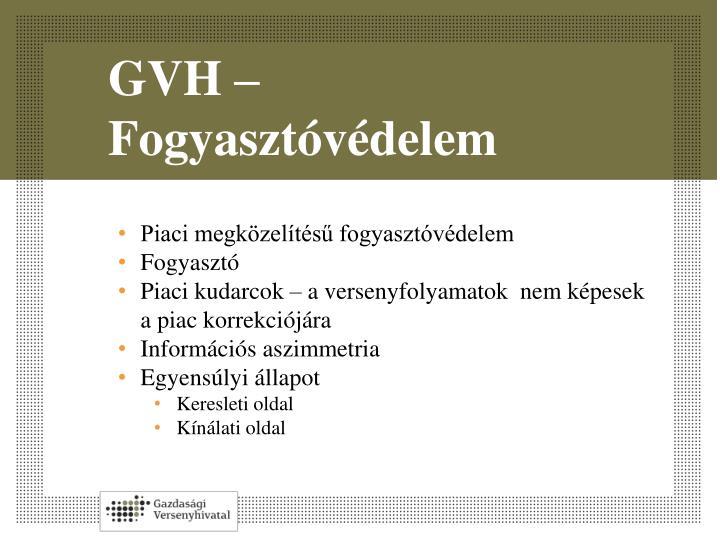 GVH – Fogyasztóvédelem