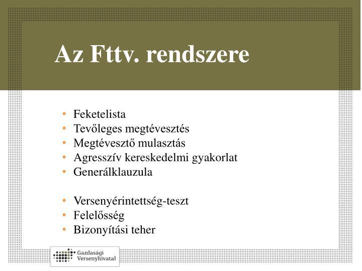Az Fttv. rendszere