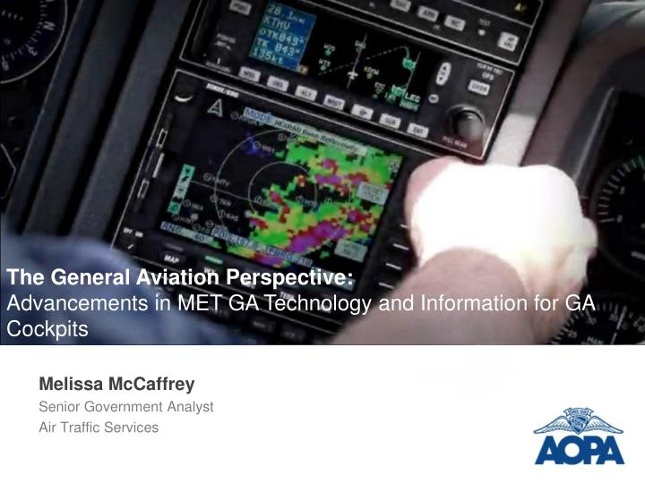 Melissa mccaffrey senior government analyst air traffic services